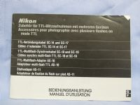 Nikon AS-10 -ORIGINAL MAKERS- Instructions £2.49